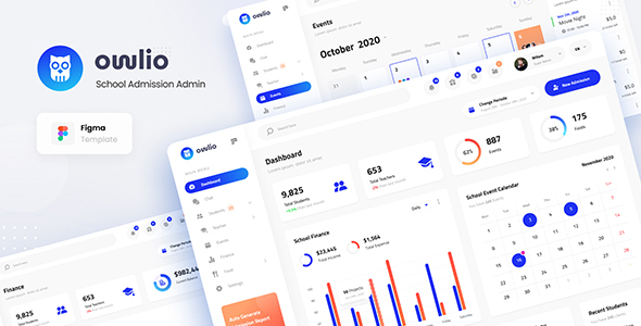 Owlio - School Admission Admin Figma Template