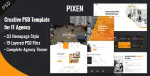 Pixen Multipurpose PSD Template