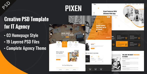 Pixen Multipurpose PSD Template
