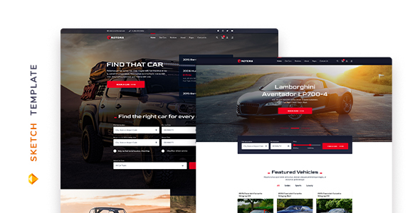Rotors – Car Rental Template for Sketch