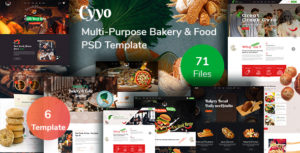 Cyyo- Multipurpose Food &  Bakery  PSD Template