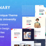 Online Education PSD Template - Eginary