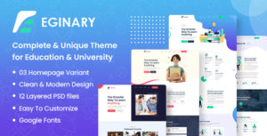 Eginary - Online Education PSD Template
