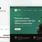 University Alumni Website Design UI Template Figma - Elmna
