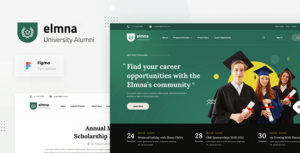 Elmna - University Alumni Website Design UI Template Figma