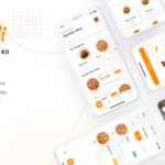Food delivery app UI Kit - MeaDeli