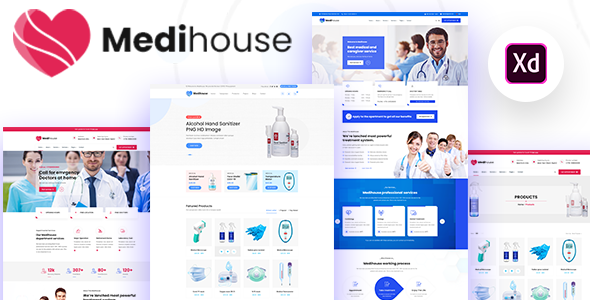 Medihouse - Hospital Medicale Caregiver XD Template