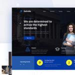 Senior High School Website Design Template PSD - Sakola