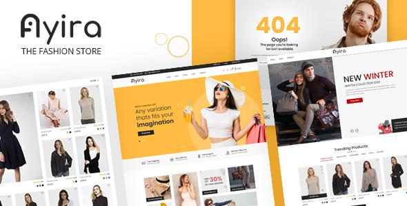 Ayira - The Fashion Store Websites PSD Templates