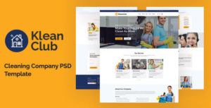 Kleanclub - Cleaning Service PSD Template