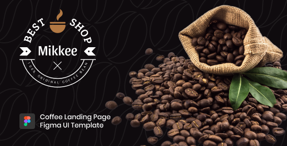 Mikkee - Coffee Landing Page Figma UI Template