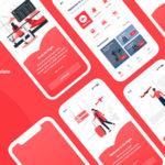 Flight Booking Adobe XD Template - Novo