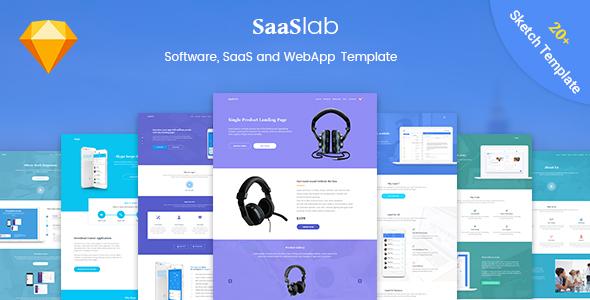 SaaSLab - Software, SaaS and WebApp Sketch Template