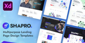 Shapro - Multipurpose Landing Page Design XD Templates