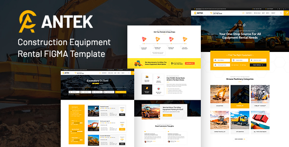 Antek - Construction Equipment Rental FIGMA
