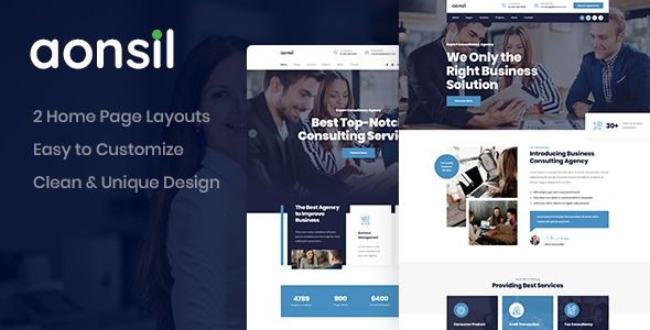 Aonsil - Consulting PSD Template