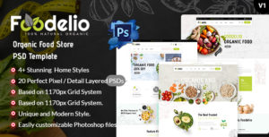 Foodelio - Organic Food Store PSD Template