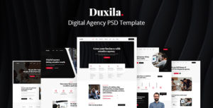 Duxila - Digital Agency PSD Template