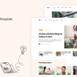 Figma Personal Blog Template - Flow