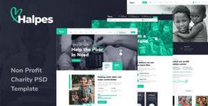 Halpes - Non Profit Charity PSD Template