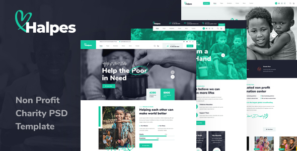 Halpes - Non Profit Charity PSD Template