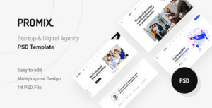 Promix - Digital Agency PSD Template