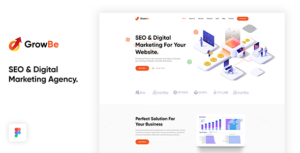 GrowBe - SEO & Digital Marketing Agency Template