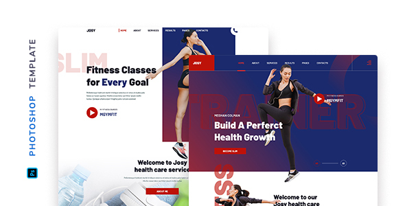 Josy – Fitness Template for Photoshop