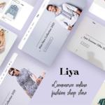 eCommerce PSD template - Liya