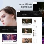 Actor, Model Portfolio XD Template - Ruposhi