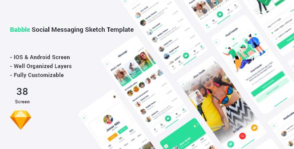 Bubble - Social Messaging Sketch Template