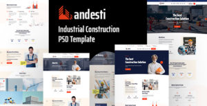 Andesti - Industrial  PSD Template