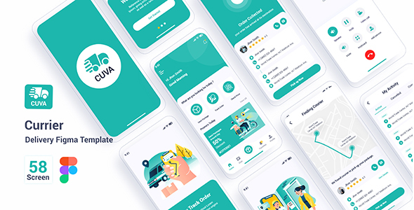 Cuva - Currier Delivery Figma Template