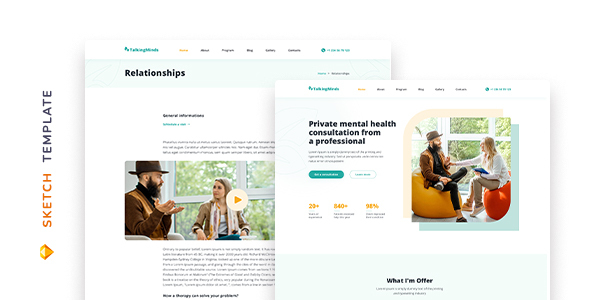 Talking Minds – Psychotherapist Template for Sketch