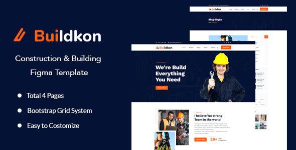 Buildkon - Construction & Building Figma Template