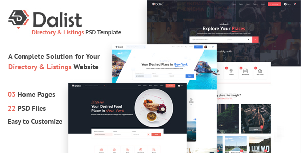 Dalist - Directory Listing PSD Template