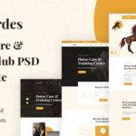 Horses Care & Riding Club PSD Template - Hordes