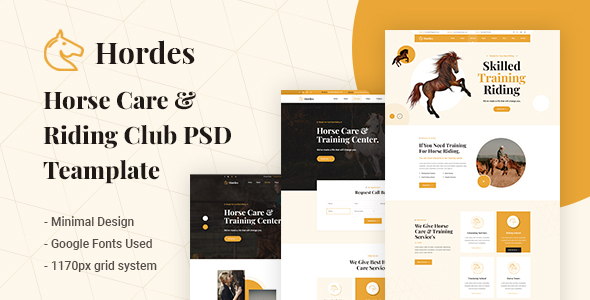 Hordes - Horses Care & Riding Club PSD Template