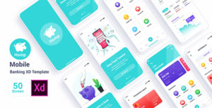 Hump – Mobile Banking Adobe XD Template