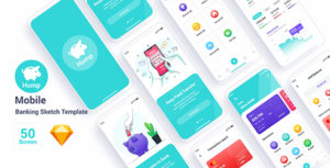 Hump – Mobile Banking Sketch Template