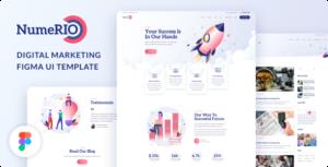 Numerio - Digital Marketing Figma UI Template