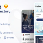 Listing Directory App Sketch Template - Findout
