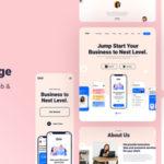 Mobile App Landing Page Figma Template - Onir